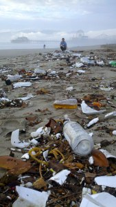 Marine debris along the California coast. (Photo Credit: Heal the Bay)